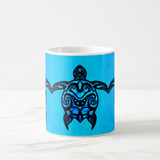 Tribal Turtle Hibiscus Coffee Mug