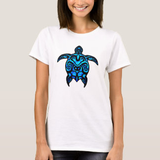 Tribal Turtle Hibiscus T-Shirt