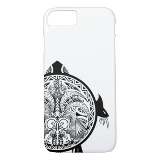 Tribal Turtle Shield Tattoo iPhone 8/7 Case