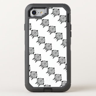 Tribal Turtle Shield Tattoo OtterBox Defender iPhone 8/7 Case