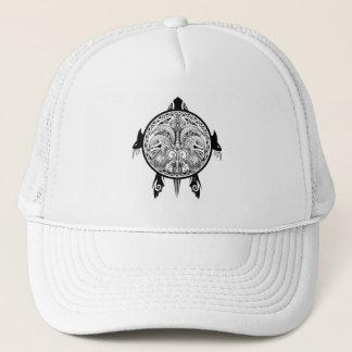 Tribal Turtle Shield Tattoo Trucker Hat