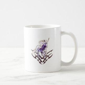 Tribal unicorn tattoo design coffee mug