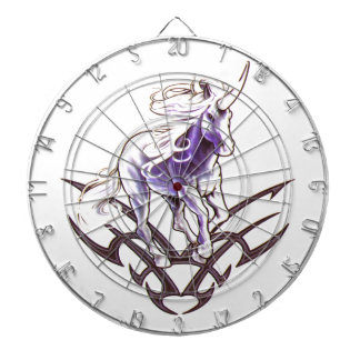 Tribal unicorn tattoo design dartboard