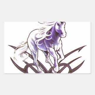 Tribal unicorn tattoo design sticker