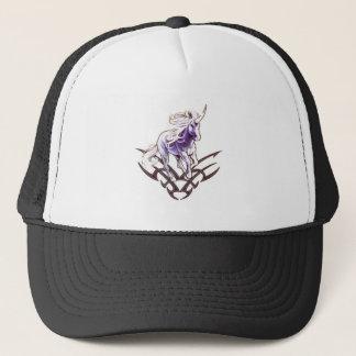Tribal unicorn tattoo design trucker hat
