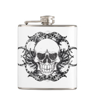 Tribal Urban skull Hip Flask
