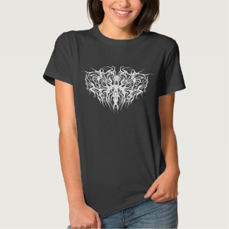 Tribal Valetine Heart Arteries Tattoo Tee Shirts