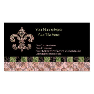 Tribal Voodoo Fleur de lis Pack Of Standard Business Cards