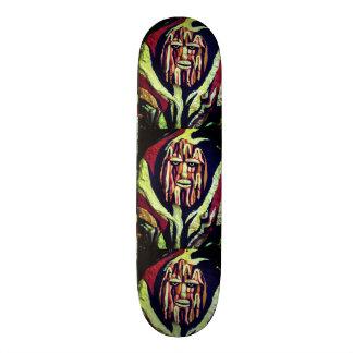 Tribal warrior painting design skate deck