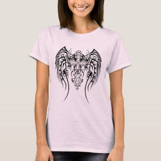 Tribal Wings Cross Scars T-Shirt