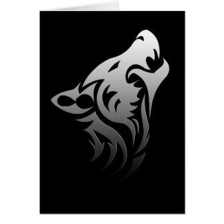 Tribal Wolf Card