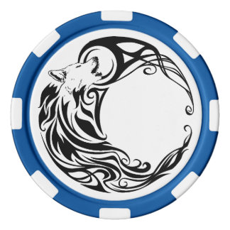 Tribal Wolf Combo Poker Chips