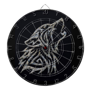 Tribal wolf dartboard