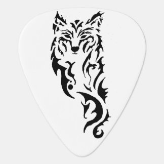 Tribal Wolf Guitar Pick