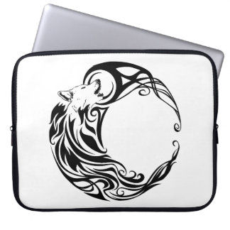 Tribal Wolf Laptop Sleeve