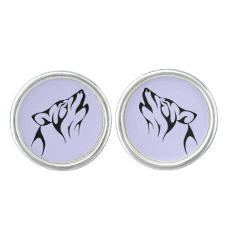 TRIBAL WOLF Pair of Cufflinks