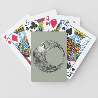 Tribal Wolf - Shaded Bicycle Playing Cards