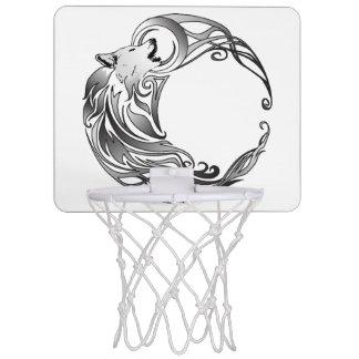 Tribal Wolf - Shaded Mini Basketball Hoop