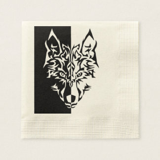Tribal Wolf Style Disposable Napkin