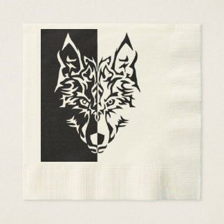 Tribal Wolf Style Paper Napkin