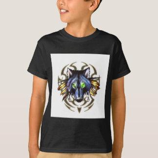 Tribal wolf tattoo design T-Shirt