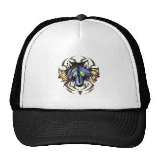 Tribal wolf tattoo design trucker hat