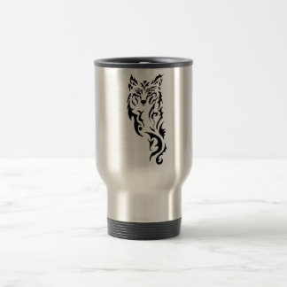 Tribal Wolf Travel Mug