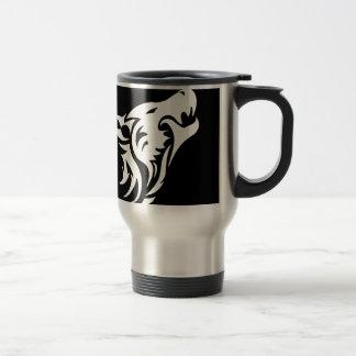 Tribal Wolf Travel Mug