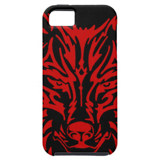 TribalWolfRed Case For The iPhone 5