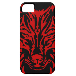 TribalWolfRed iPhone 5 Case
