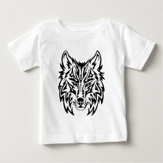TribalWolfWhiteBackground Baby T-Shirt