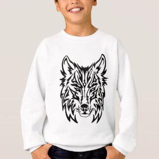 TribalWolfWhiteBackground Sweatshirt