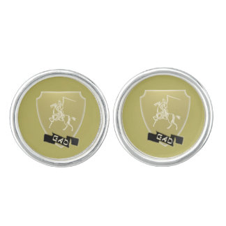Tribe Of Gad Crest Round Silver plated Cufflinks