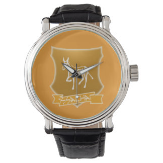 Tribe Of Issachar Crest Vintage Leather Watch