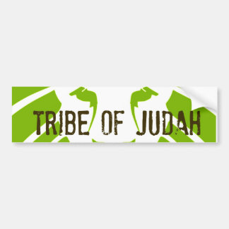 Tribe of Judah Green Bumper Sticker