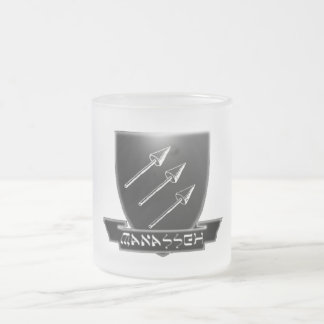 Tribe Of Manasseh Crest Frosted Glass Mug