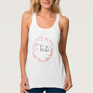 Tribe Red Confetti - Women's Racerback Shirt