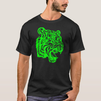 Tribel Tiger, Lime Misfit T-Shirt
