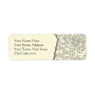 Tribes of Israel Antique Map Elegant Return Address Label
