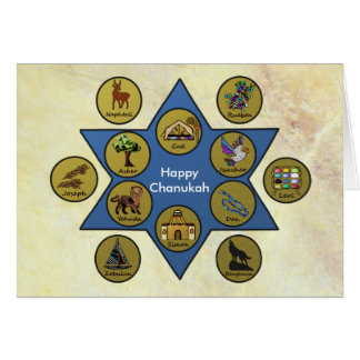 Tribes of Israel Celebrate Chanukah Card