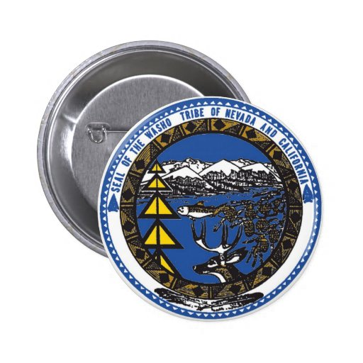 Tribu de Washoe du Nevada et de la Californie Badges Avec Agrafe