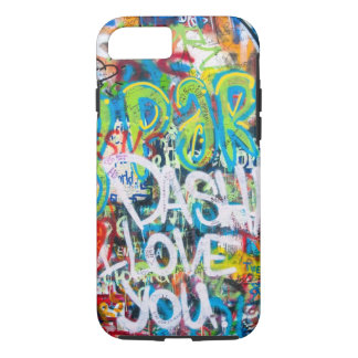 Tribute Graffiti Wall in Prague iPhone 7 Case