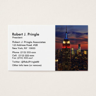 Tribute In Light Sept 11, World Trade Cntr ESB #1 Business Card