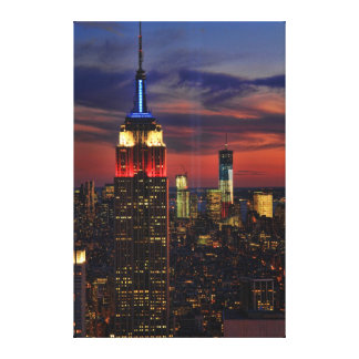 Tribute In Light Sept 11, World Trade Cntr ESB #1 Gallery Wrapped Canvas