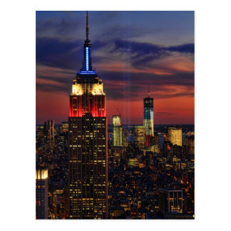 Tribute In Light Sept 11, World Trade Cntr ESB #1 Postcard