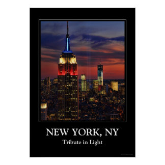 Tribute In Light Sept 11, World Trade Cntr ESB #1 Poster