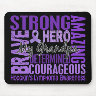 Tribute Square Grandpa Hodgkins Lymphoma Mouse Pad