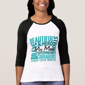 Tribute Square Mom Ovarian Cancer T-Shirt