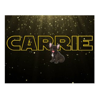Tribute to Carrie Postcard
