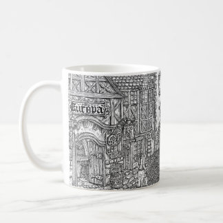 Tribute To Europa - Black & White Coffe Mug